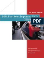 Mcq Mba First Year