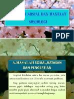 Masalah Sosial Dan Manfaat Sosiologi
