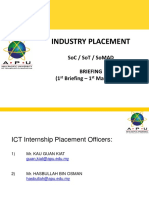 1708 Industry Placement Briefing - 1st Briefing