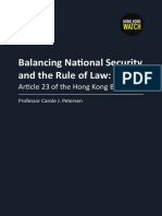 Balancing National Security and the Rule of Law