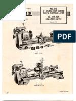 Atlas 618 Lathe Manual