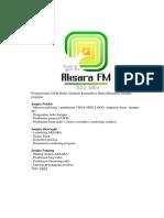 Program Kerja UKM Radio Akademi Komunikasi Radya Binatama Meliputi Program