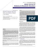 The Effect of Foot Exercise on Diabetic Patients With Foot Ulcer an Evidence Based Case Report