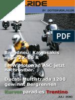Motorrad-Magazin JustRide Juli 2010