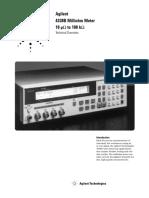 Agilent HP 4338B Datasheet