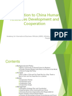 Introduction to China Human Resources Development and Cooperation.ppt