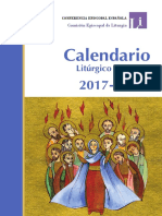 2017 - 2018 Calendario Litúrgico