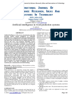 Artificial intelligence in word prediction systems