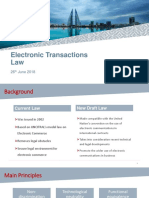 Electronic Transactions Law 26 June 2018