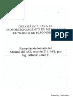 Manual de Diseño de Mezcla de Concreto Metodo ACI