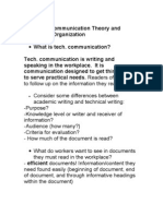 Technical Communication Theory Lecture Notes