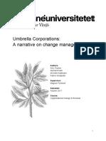 A narrative on change management