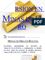 Minas de Oro en Bolivia - Point