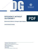 Efficiency without Autonomy
