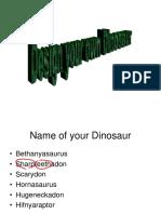 Design ADinosaur