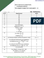 Cbse Sample Paper Class 7 Mathemtatics Fa 1 With Solution