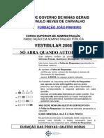 Prova CSAP 2008 - Ciencias Exatas e Biologic As e Historia