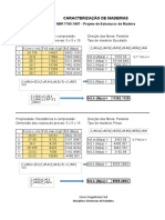 Planilhas Para Relatório de Ensaios de Madeiras