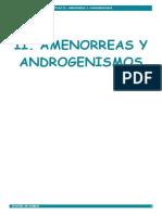 2. Amenorreas y Androgenismos
