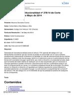 SENTENCIA 278 DE 2014 513893426