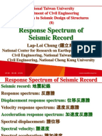 107 1 NTU SDS 8 Response Spectrum of Seismic Record