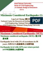 107 1 NTU SDS 11 1 Maximum Considered Earthquake