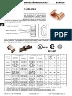 Conectores Burndy - Data Sheet