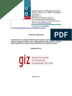 GIZ, Tullow and KMFB Technical Proposal 6.3.2017