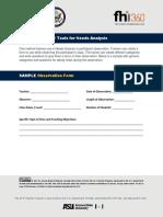 Module 2_Sample Observation Form