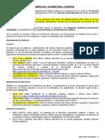Sistema educativo argentino Diferenciacion Unidad Horizontal Vertical