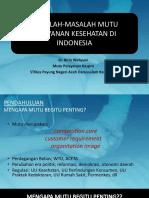 1. Masalah Mutu Pelayanan Kesehatan Di Indonesia