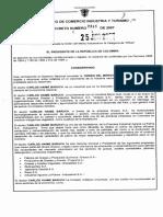 Decreto 2345 de 2007 se conceda a Carlos Haime Baruch Orden Al Merito Industrial