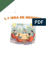 1. Determinación de la idea de negocio