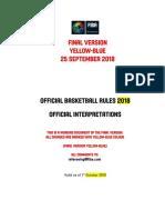 2018 FIBA Official Interpretations - OCT 2018