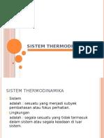 Sistem Termodinamika Untuk Mahasiswa