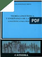 TeorIa Lingüística y Enseñanza de la Lengua