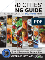 Quad Cities' Dining Guide Fall + Winter 2018/19