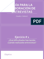 Guía Para La Elaboración de Entrevistas