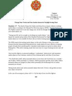 Daylight Saving Press Release 2018