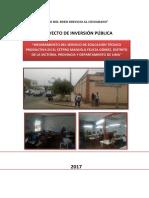 CP - Mejoramiento del Servicio de Educación Técnico Productiva en el CEPTRO Manuela Felicia Gómez, Distrito de La Victoria, Provincia y Departamento de Lima.pdf