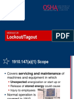 20 Lockout Tagout
