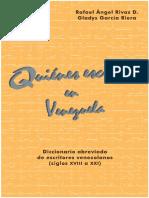 Quienes escriben en Venezuela