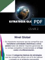 Clase 2 Estrategia Global