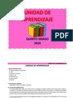 UNIDAD DE APRENDIZAJE 5° - MAYO