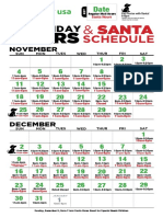 2018 Santa Schedule
