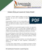 AP en Duelo Por Muerte de Teodoro Petkoff
