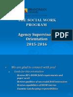 supervisor orientation training