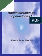 Administración de operaciones I