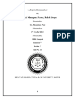 Akhil Gangesh Corporate Law 1 Sem 5th
