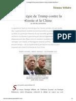 La stratégie de Trump contre la Russie et la Chine, par Alfredo Jalife-Rahme